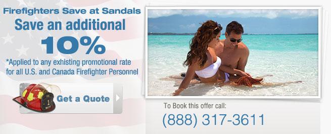 Sandal Resorts Firefighter Savings